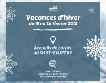 Inscriptions Vacance